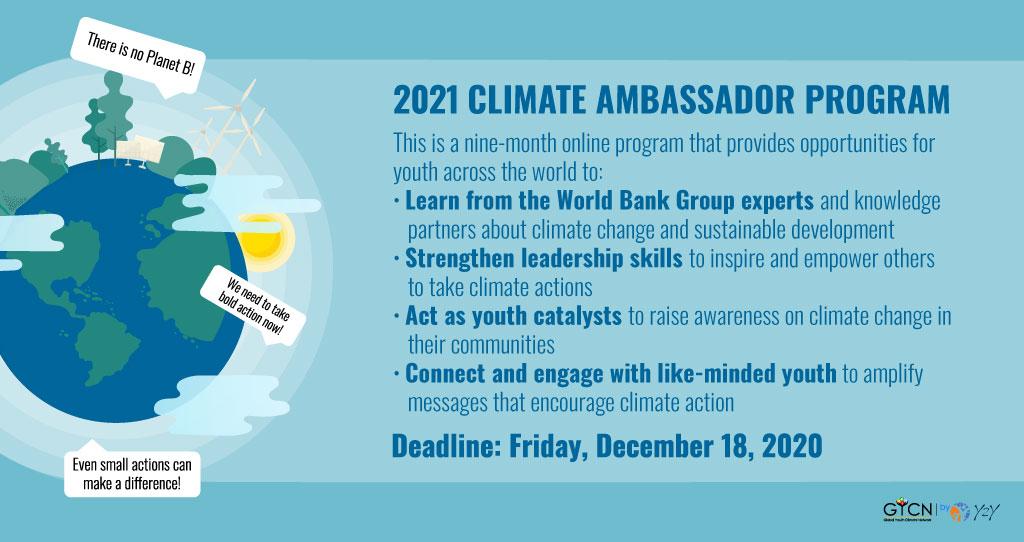 Global Youth Climate Network Climate Ambassador Program 2021