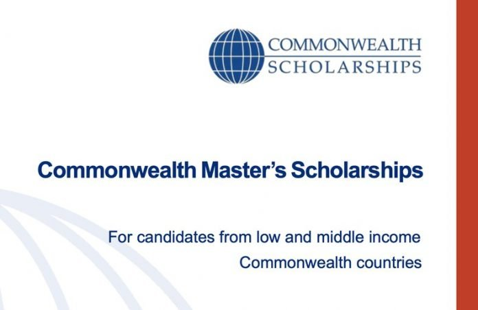 Commonwealth Master's Scholarships 2021 for full-time Master's study at a UK university (Fully Funded)
