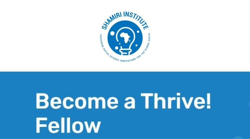 Shamiri Institute Thrive! Fellowship Program 2021 for Young Kenyans (Stipend available)
