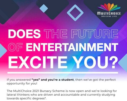 MultiChoice Bursary Program 2021 for young South Africans