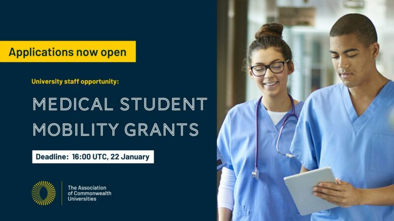 Association of Commonwealth Universities (ACU) Medical Student Virtual Mobility Grants 2020-2021
