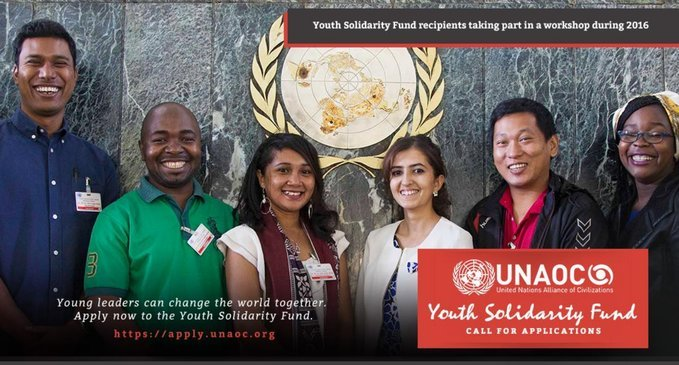 United Nations Alliance of Civilizations (UNAOC) Youth Solidarity Fund 2020/2021 for Innovative Youth Projects (USD 25,000 Grant)