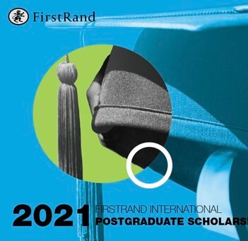 The FirstRand Laurie Dippenaar International postgraduate study Scholarships 2021 for young South Africans.