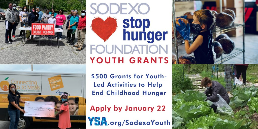 YSA/Sodexo Stop Hunger Foundation Youth Grants Program 2021 [U.S. only]