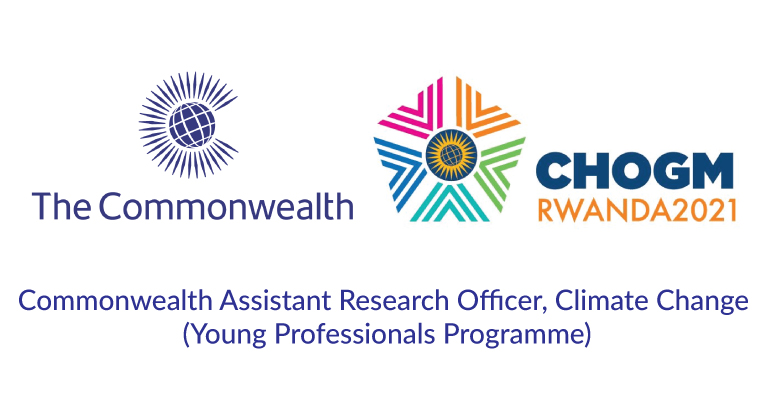 Commonwealth Young Professionals Program 2021 – Assistant Research Officer, Climate Change (£29,070 salary)