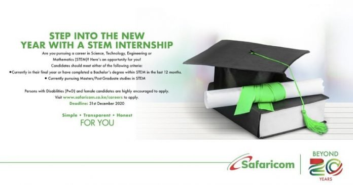Safaricom STEM Internship Program 2021 for young Kenyans