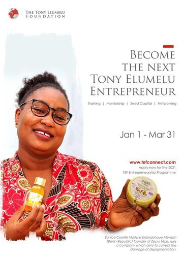 Tony Elumelu Foundation Entrepreneurship Programme (TEEP) 2021 for young African Entrepreneurs (Training, Mentorship & $USD 5000 seed capital! )