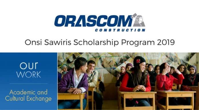 Orascom Construction Onsi Sawiris Scholarship Program 2022/2023 for Egyptians to Study in USA (Fully Funded)