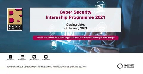 Banking Sector Education and Training Authority ( BANKSETA) Cyber Security Internship Programme 2021 for young South Africans