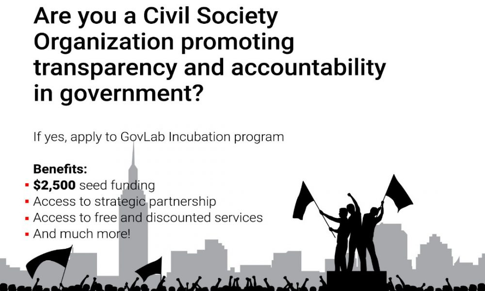 GovLab Incubation Program 2021 for Civil Society Organizations and Innovators in Nigeria (Up to $2,500 grant)