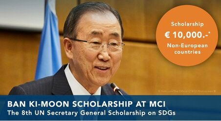 The MCI Entrepreneurial School Ban Ki-Moon 2021 Scholarship on SDGs (SUSTAINABLE DEVELOPMENT GOALS)