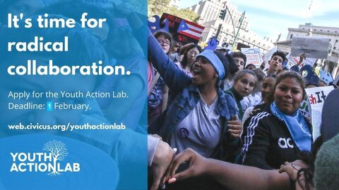 CIVICUS Youth Action Lab 2021 for Youth from the Global South (Funded)