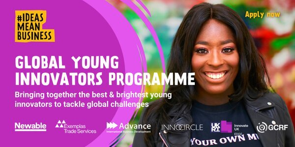 Global Young Innovators Program 2021 for young South Africans  (R200,000 grant)