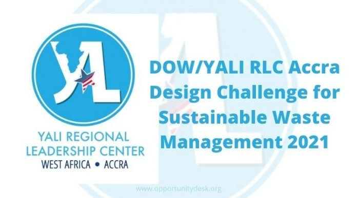 DOW/YALI RLC Accra Design Challenge 2021 for Sustainable Waste Management