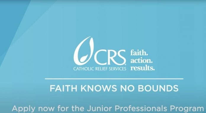 Catholic Relief Services (CRS) Junior Professionals Program 2021 for West African Women