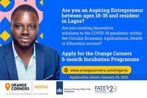 Orange Corners Nigeria Incubation Programme 2021 for young Entrepreneurs.