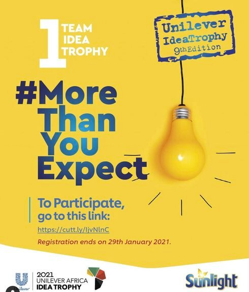 Unilever's IdeaTrophy 2021 Business Competition for young Nigerian Undergraduates.
