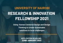 University of Nairobi Research & Innovation Fellowship 2021