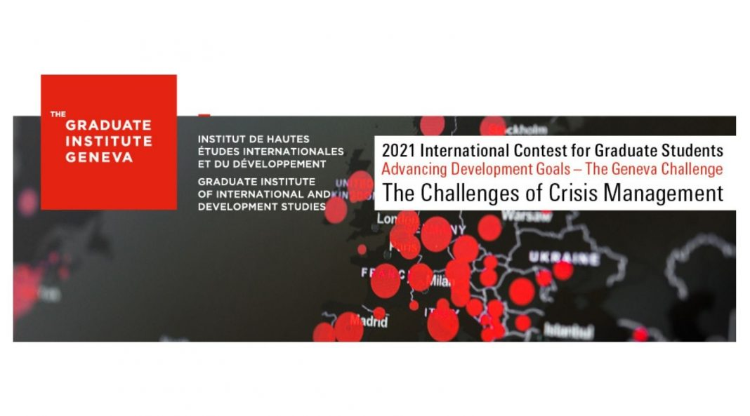 The Geneva Challenge 2021: The Advancing Development Goals Contest for Graduate Students (Win up to CHF 10'000 and a trip to Geneva)