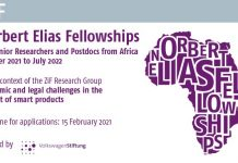 ZiF Norbert Elias Fellowships 2021/2022 for senior Researchers and Postdocs from Africa.