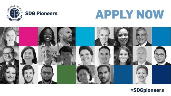UN Global Compact 2021 call for Sustainable Development Goals (SDG) Pioneers.