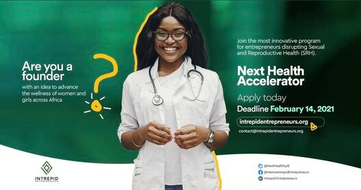 Next Health Accelerator Program 2021 for African Entrepreneurs (USD 15,000 in Seed Funding)