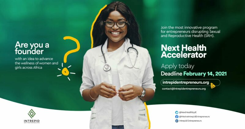 Intrepid Entrepreneurs Next Health Accelerator 2021 ($15,000 Seed Funding)