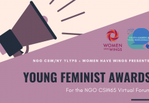 NGO CSW65 Forum Young Feminist Awards 2021 ($5,000 grants)