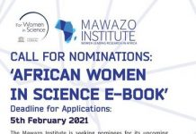 The Mawazo Institute Call for Nominations: African Women in Science E-Book 2021.