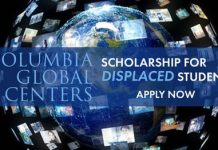 Columbia University Scholarship 2021/2022  for Displaced Students Worldwide (Fully Funded)