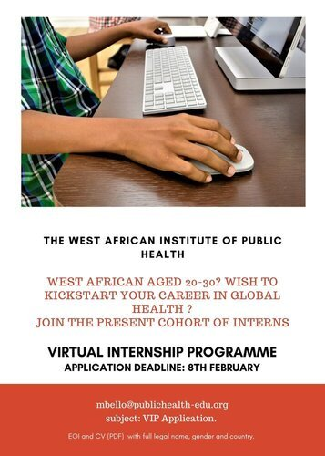 The West African Institute of Public Health (WAAPH) Virtual Internship Programme 2021.