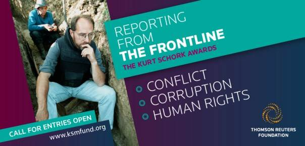2021 Kurt Schork Memorial Fund Awards in International Journalism (US$5,000 prize at a ceremony in London)