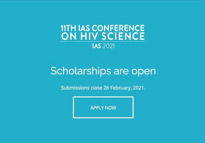 IAS International Scholarship Programme 2021 to attend the 11th IAS Conference on HIV Science.