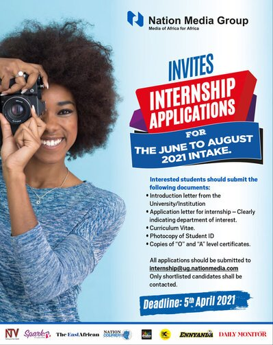 The Nation Media Group Internship 2021 for young University students