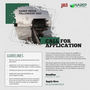 NAREP Oil and Gas Media Fellowship 2021 for Journalists and Media Professionals.