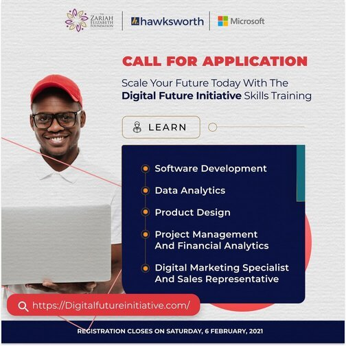 Digital Future Initiative skills training program 2021 for young Nigerians