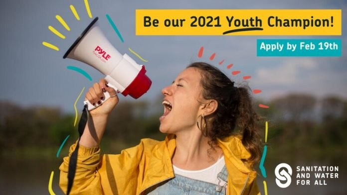 Sanitation and Water for All (SWA) call for 2021 Youth Champion (2.500$/year, plus travel expenses)