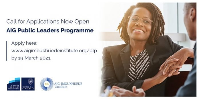 The Africa Initiative for Governance (AIG) Public Leaders Programme 2021 for Public Sector Executives