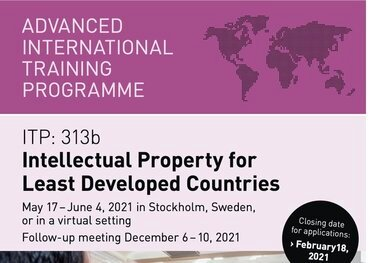SIDA International training programme on Intellectual Property for Least Developed Countries