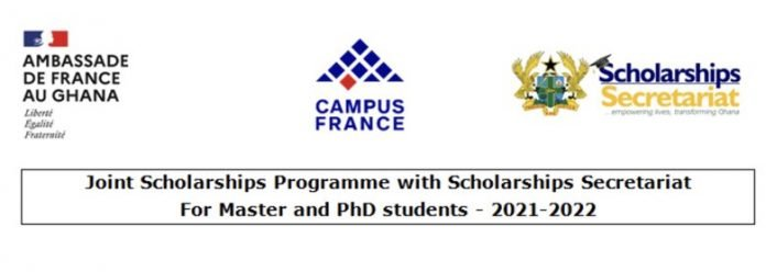 Embassy of France in Ghana  Master's Degree & PhD Scholarships 2021/2022 for Ghanaian Students