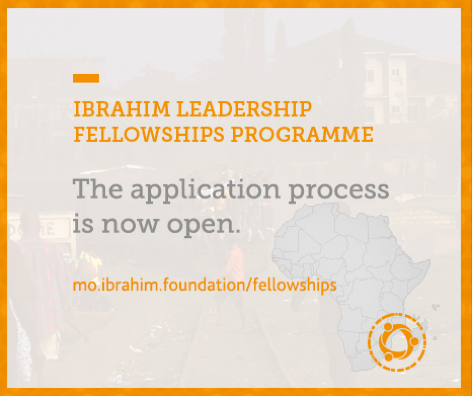 Mo Ibrahim Foundation Leadership Fellowship Programme 2021 for emerging African Leaders (Fully Funded to work at the African Development Bank )
