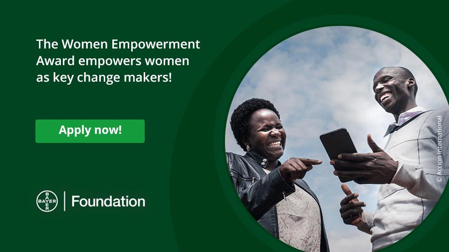 Bayer Foundation Women Empowerment Award 2021 (Up to 50,000 EUR)