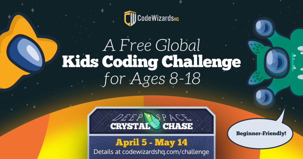 CodeWizardsHQ's Free Global Kids Coding Challenge 2021 ($100 Cash Prize)