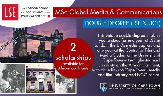 LSE and UCT Double Degree Masters Scholarships 2021/2022 for African Students (Fully-funded)