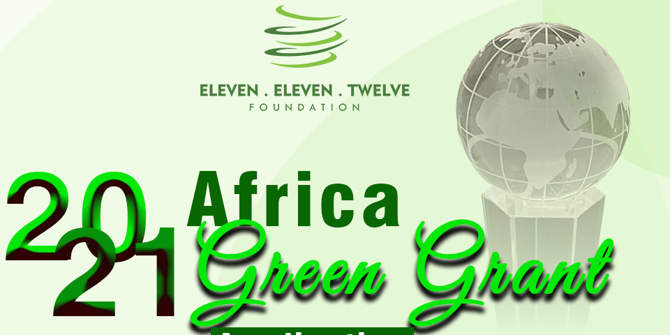 Eleven Eleven Twelve Foundation Africa Green Grant Award 2021
