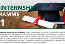 Department of Agriculture, Forestry & Fisheries (DAFF) Internship Programme 2021 for young South Africans (R60,792.00 per annum stipend)