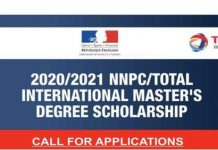 NNPC/Total International Master's Degree Scholarships 2021/2022 for young Nigerians (Fully Funded to France)