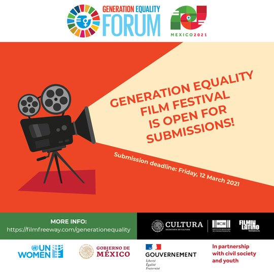 The Generation Equality Film Festival 2021 for filmmakers and storytellers.