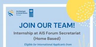 UNDP Internship for AIS Forum Secretariat (Home-Based) – International Applicants from Africa Region (Stipend Provided)