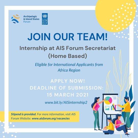 UNDP Internship for AIS Forum Secretariat (Home-Based) – International Applicants from Africa Region (Stipend Provided)
